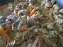 Chicken Livers with Carrots and Onions