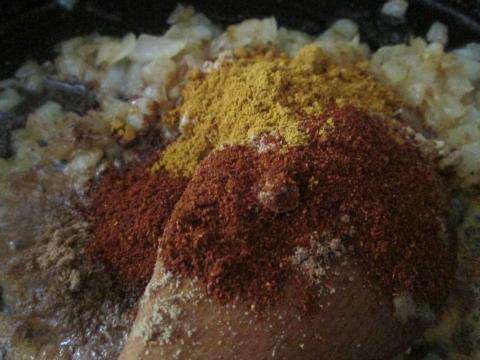 Adding Ginger Coriander Chili Curry