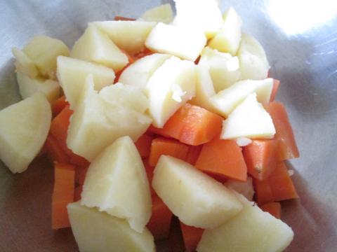 Adding the Cut Veggies in a Bowl