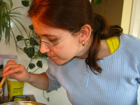 Monika Checking Chicken Soup