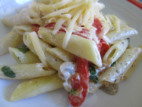 Easy Chicken Pasta Recipe with Sour Cream