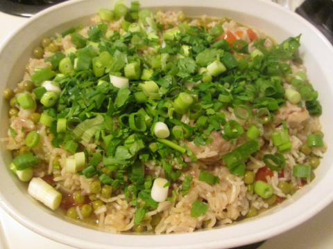 Adding Parsley and Green Onions Before Baking
