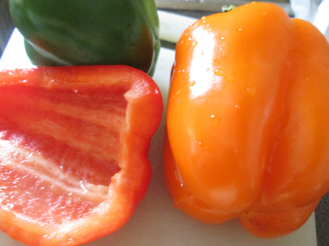 Beautiful Peppers for Our Salad