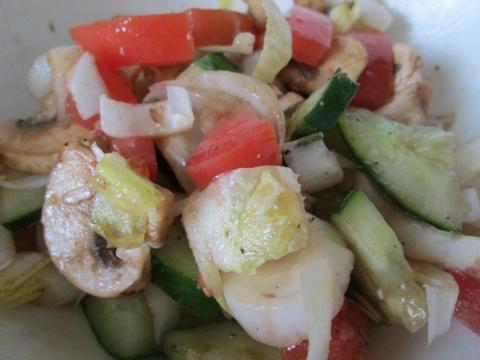 Salad for Best BBQ Chicken