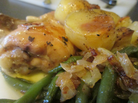 Chicken Drumstick Recipe with Potatoes and Green Beans