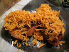 Chicken mushrooms and cheese
