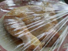 marinade chicken under wraps