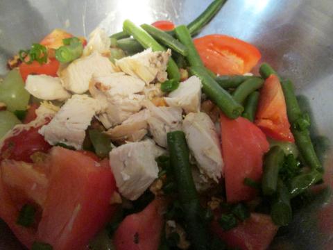 Adding Chopped Roast Chicken