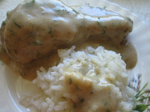 Dill Sauce Recipe For Chicken Legs and Rice