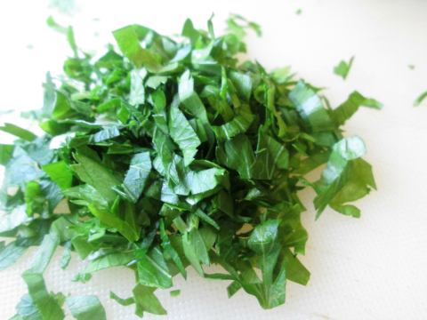 Freshly Chopped Organic Parsley