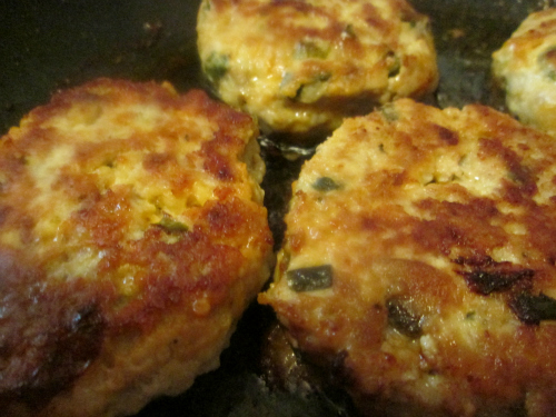 Golden Chicken Burger Patties