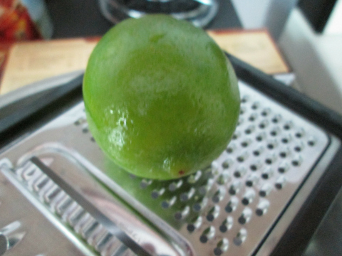 Grating the Lime for Zest