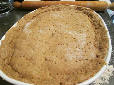 Holes Poked: Ready to Bake