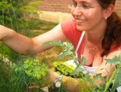 Monia in her garden!