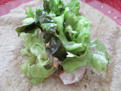 Lettuce and Mayo Mix on Tortillas