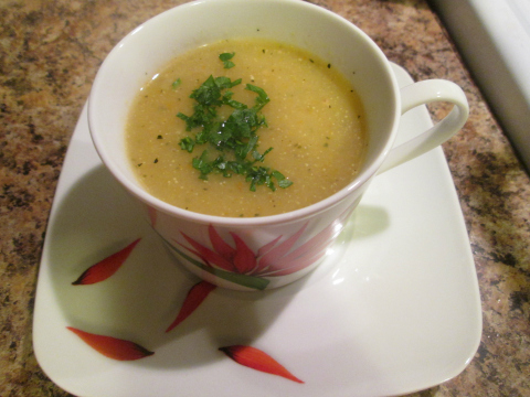 Monia's Squash Soup Recipe with Chicken Broth