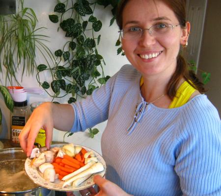 Monika Making Chicken Soup