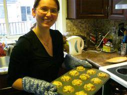 Monika with Chicken Muffins!