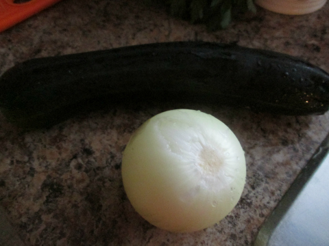 Onion and Zucchini for Squash Soup Recipe