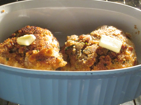 Oven Fried Chicken Recipe with Butter