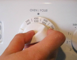 Oven Temperature Closeup