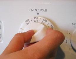 Oven Temperature Closeup