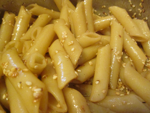 Pasta and Sesame Seeds for Salad