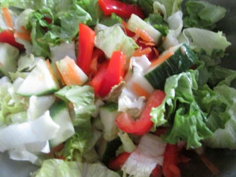 Salad for Chicken Noodle Recipe