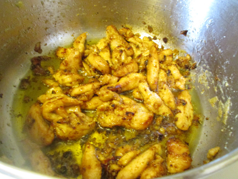 Sauteed Chicken for Pepper Salad