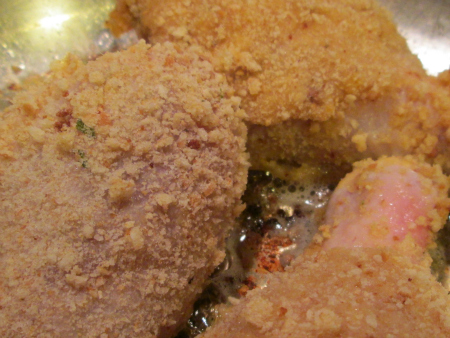 Sauteeing chicken legs