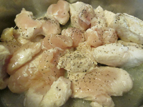 Sauteing Chicken Chunks