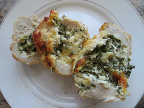 Serving Spinach Stuffed Chicken Breast