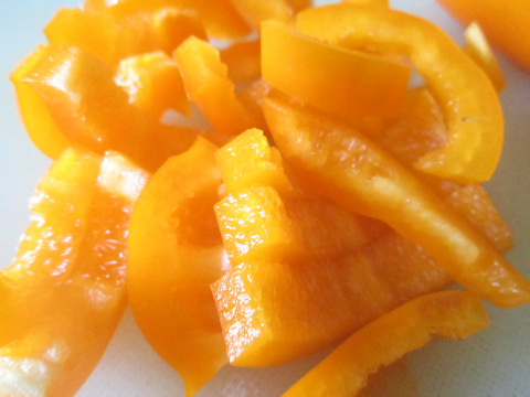Sliced Orange Pepper