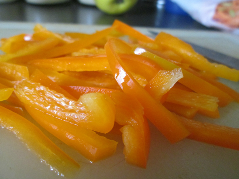 Sliced Orange Bell Peppers