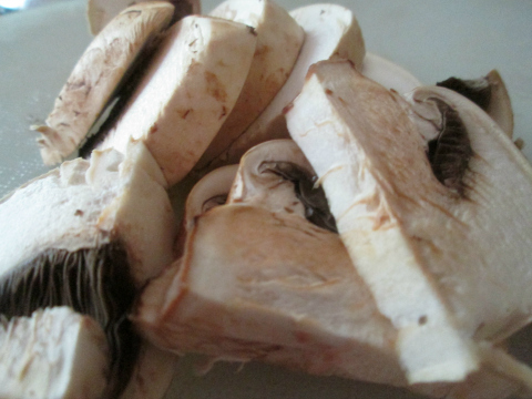 Sliced Mushrooms for Chicken and Potatoes