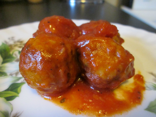 Tomato Sauce Recipe with Chicken Balls