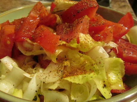 Tomatoes and endive