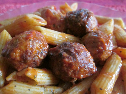 Tomato Sauce Recipe with Chicken Balls and Pasta
