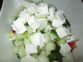 Cubed Feta Cheese