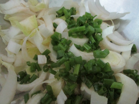 Endive and Green Onions