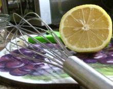 lemon and whisk