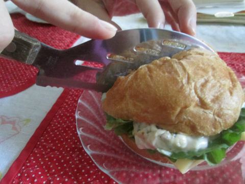 Slicing the Best Chicken Salad Sandwich