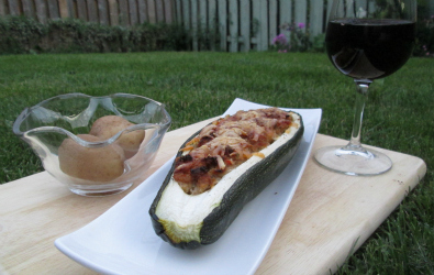 stuffed zucchini dinner