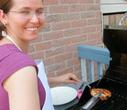 Monika with BBQ chicken breasts!