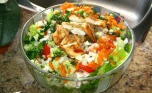 Chicken Pasta Salad Recipe waiting for pasta